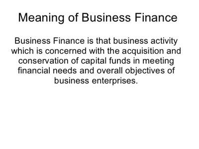 What's Available for Consumer and Small Business Financing?