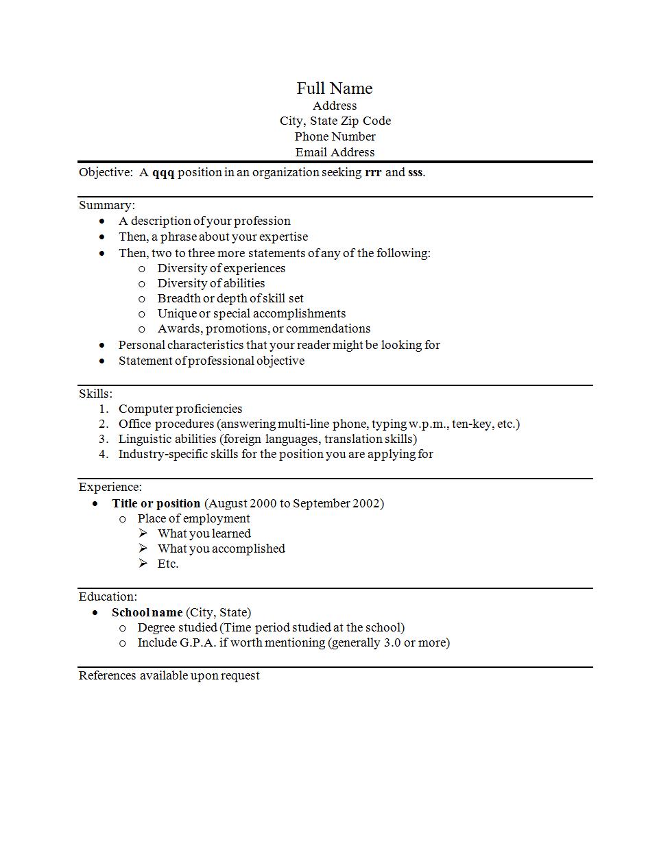 Using Ms Word 2010 Keyboarding Online Broadcast Engineer Sample Resume
