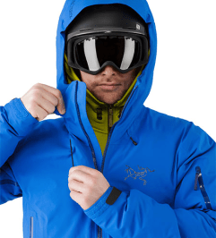 Arc'teryx's Fissile jacket busted wallet review blue front zip