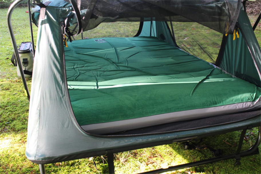 we were really impressed with the comfort of the tent cot with the mattress it became the most comfortable camping experience weu0027ve