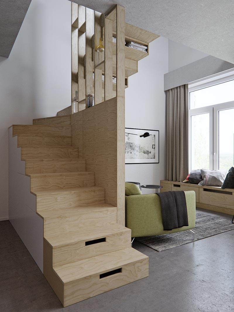 Kleine Apartments Amazingly Tiny Two-level Studio Apartment With A Sleeping Loft