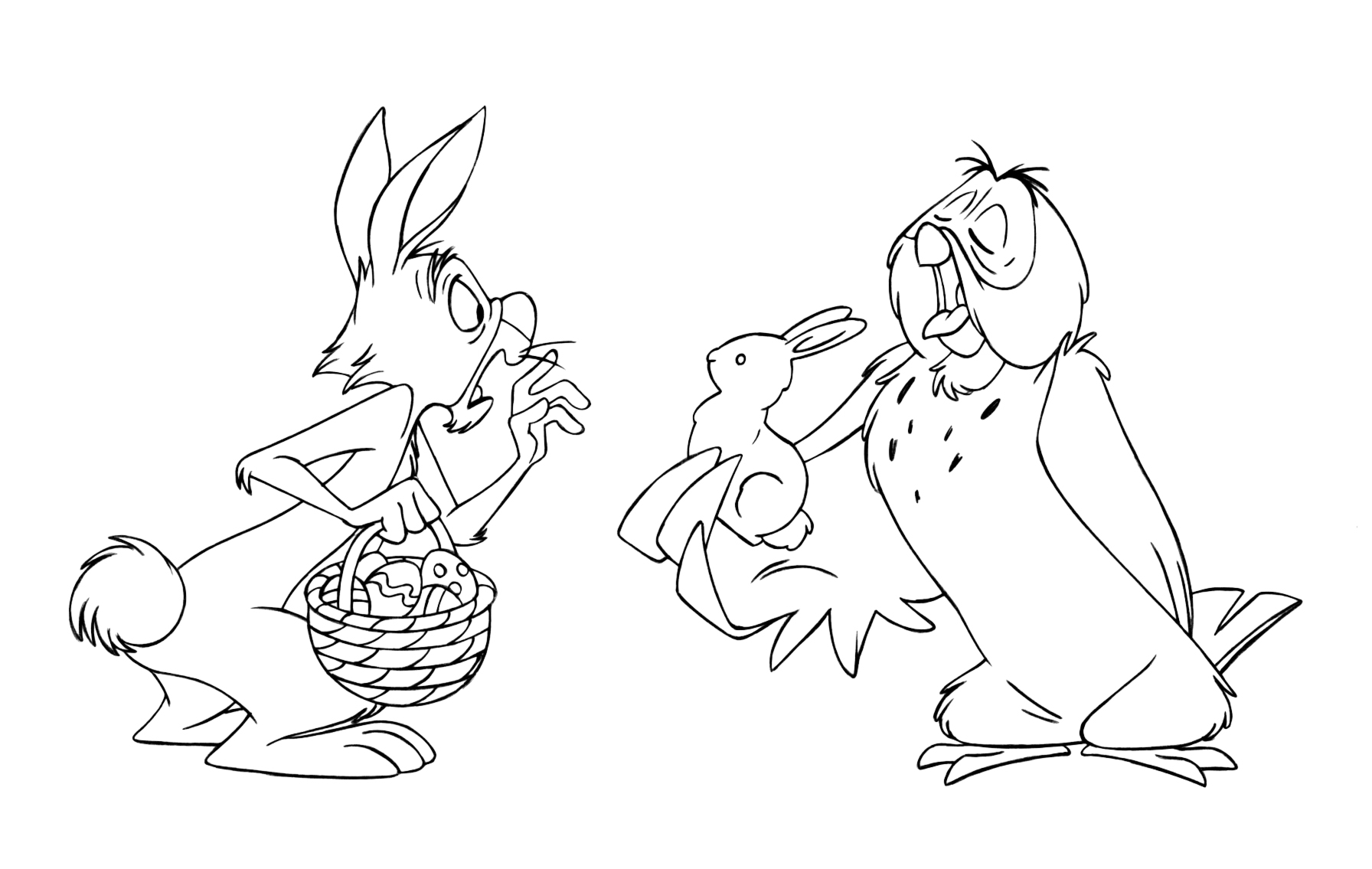 the pooh easter coloring pages - photo#10