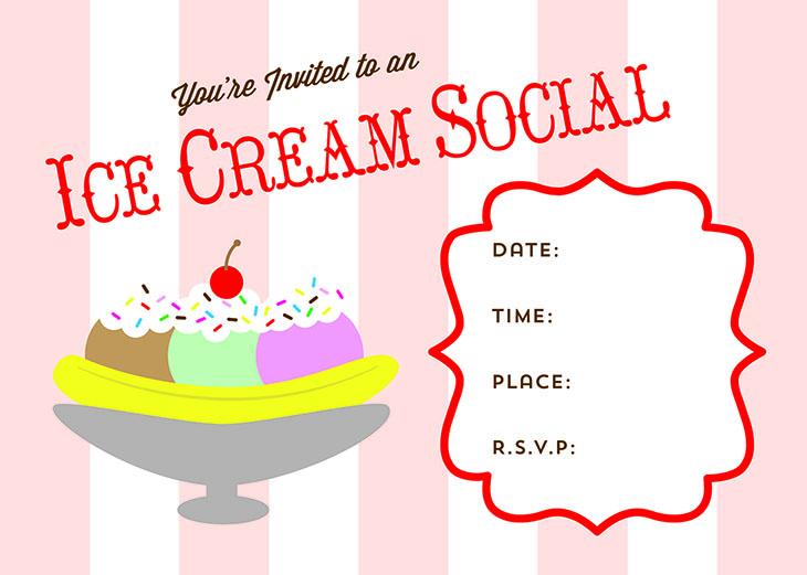 Free Printable Ice Cream Social Invite