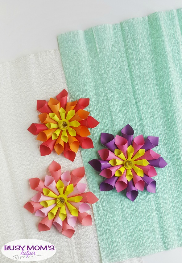 DIY Paper Flowers for Spring - Busy Moms Helper
