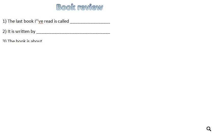 Book Review - Writing Template - book review template