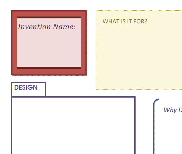 Make Your Own Invention TEMPLATE