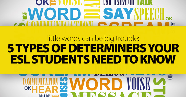 Little Words Can Be Big Trouble 5 Types Of Determiners Your ESL - count and noncount nouns esl
