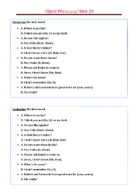 Object Pronouns PDF