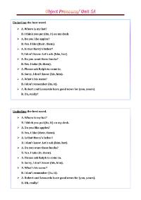 Object Pronouns PDF