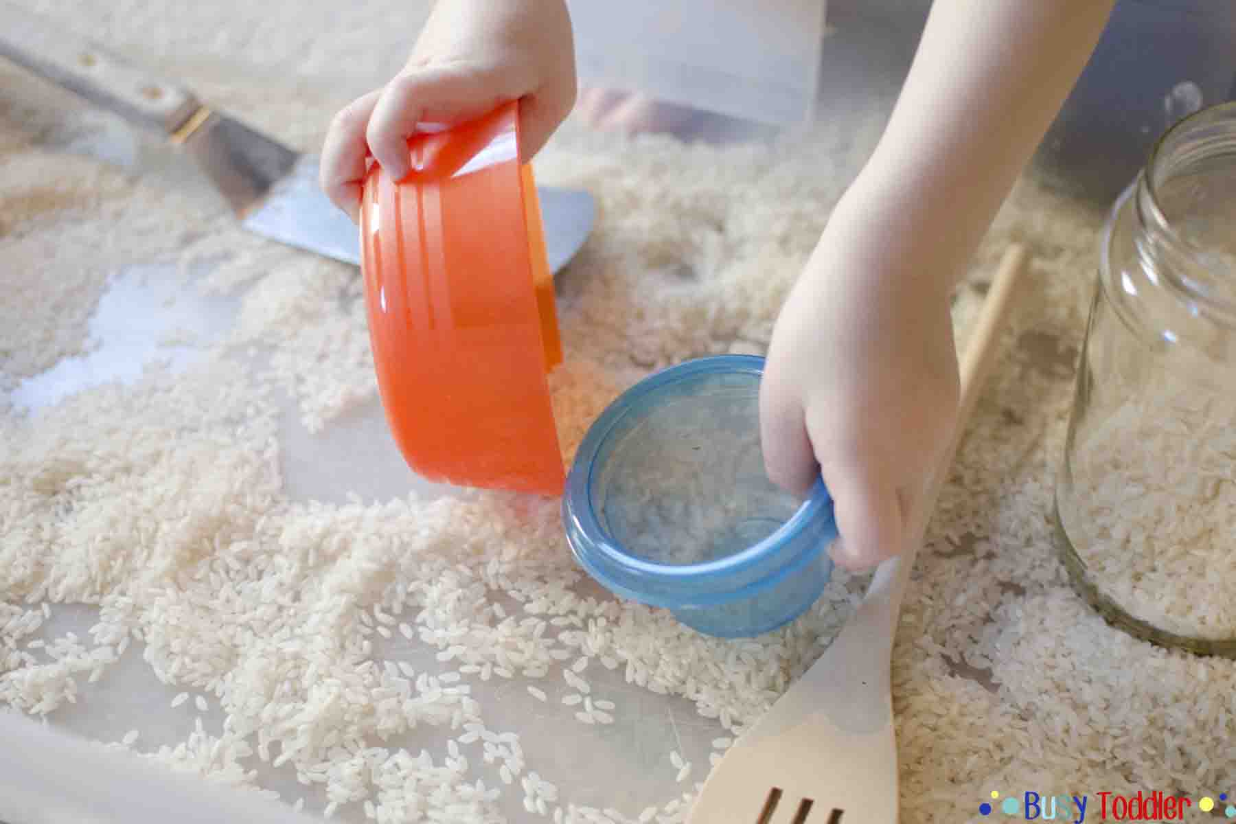 Rice Bin Sensory Play Activity Busy Toddler