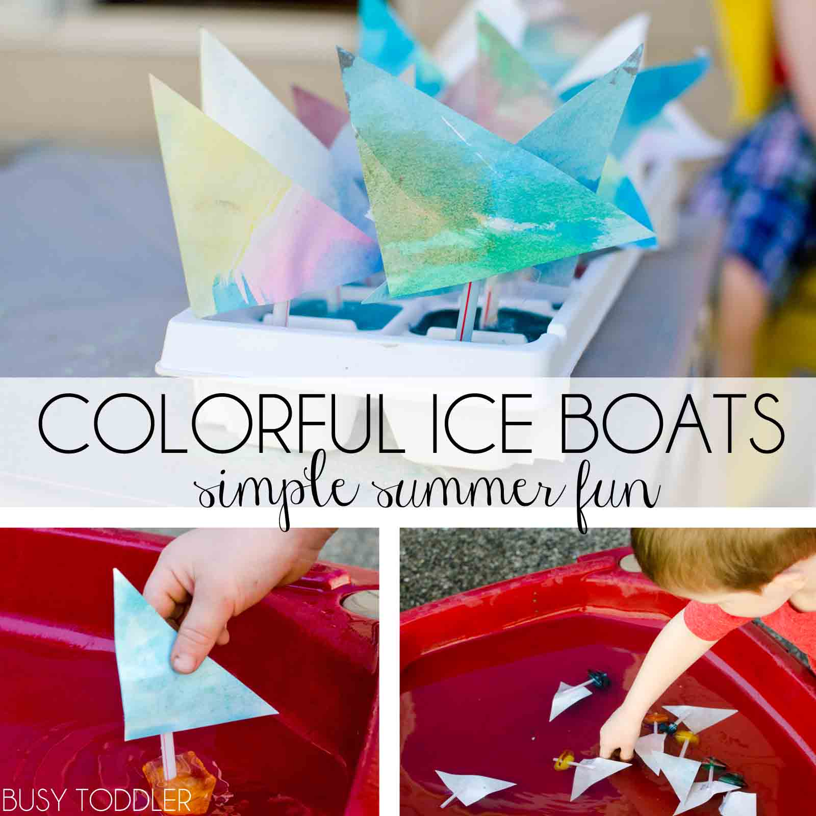 Water and ice activities summer camp at home with 12 weeks of easy and fun