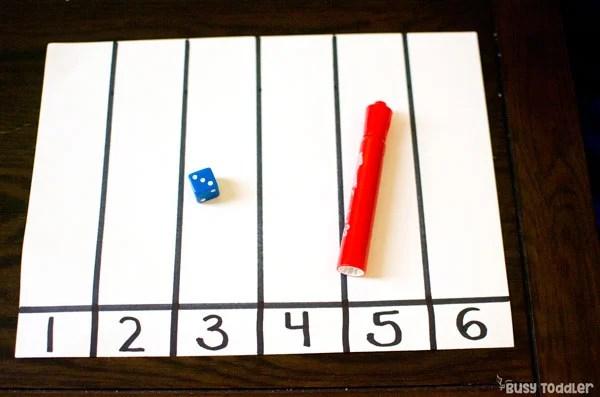 Roll  Tally Easy Dice Math Activity