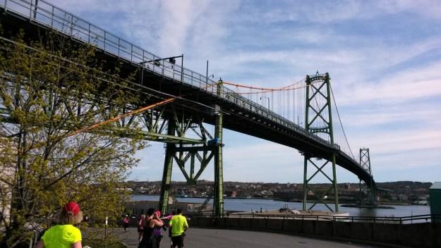 Running under the bridge