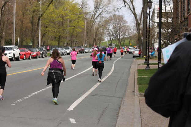 Two km from the finish line