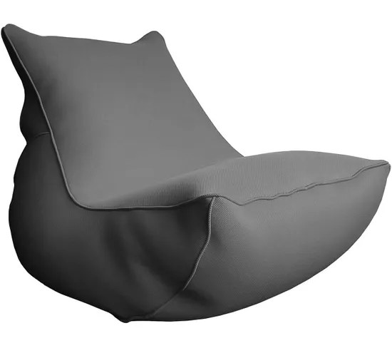 Fauteuil Lounge Big Bag De Piscine Anthracite Pouf
