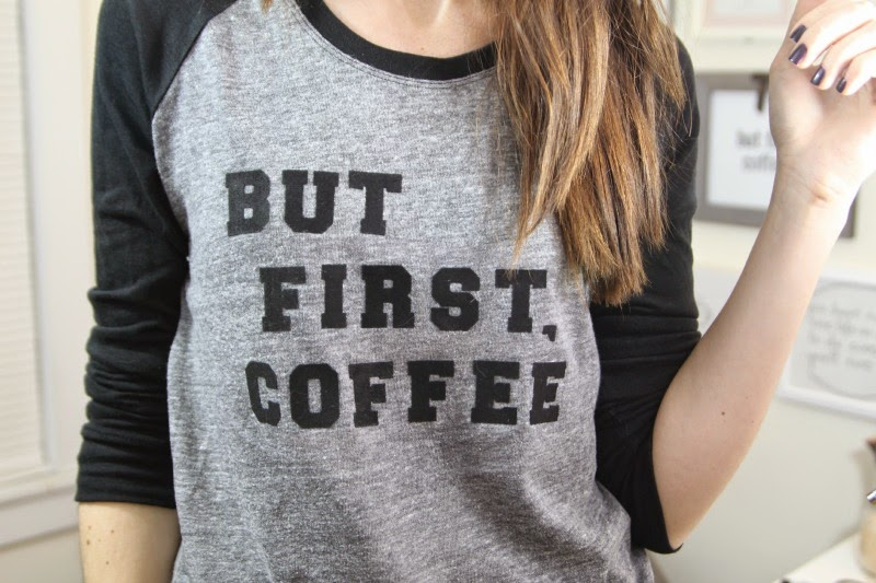 Diy how to make a t shirt with text two different for How to get coffee out of shirt
