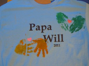 "Finished ""Papa Will"" shirt"