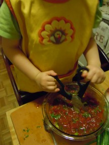 Br chopping his salsa
