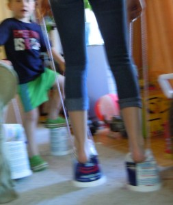 "My niece's ""insufficient"" stilts"