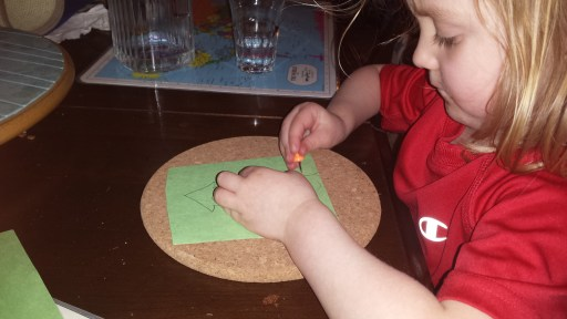 "Keeping little fingers busy- the ""poking"" job"