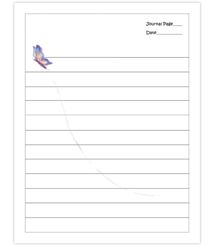 Free printable lined notebook paper journal pages
