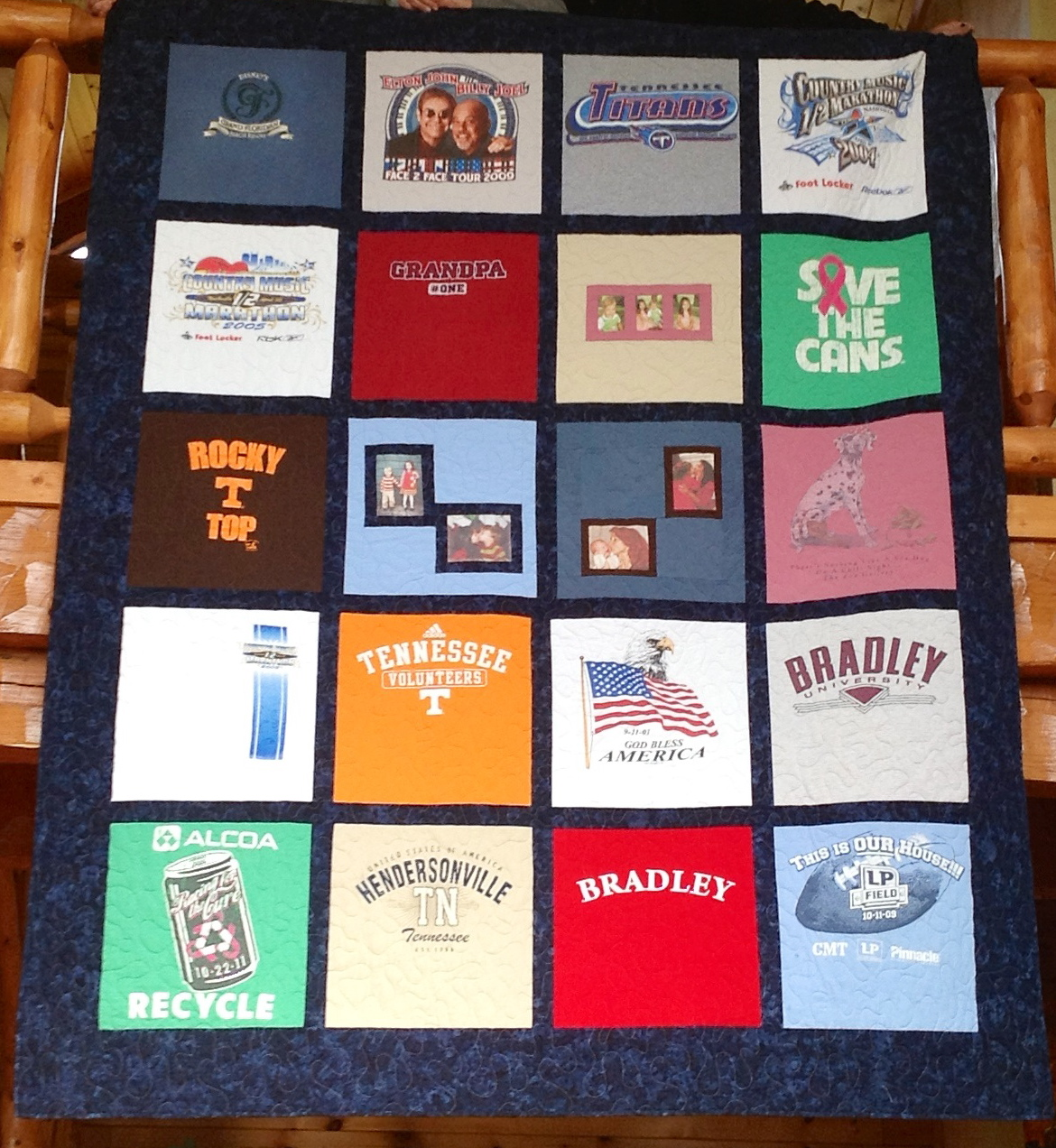 Quilting Patterns For T Shirt Quilts : T-Shirt Quilt