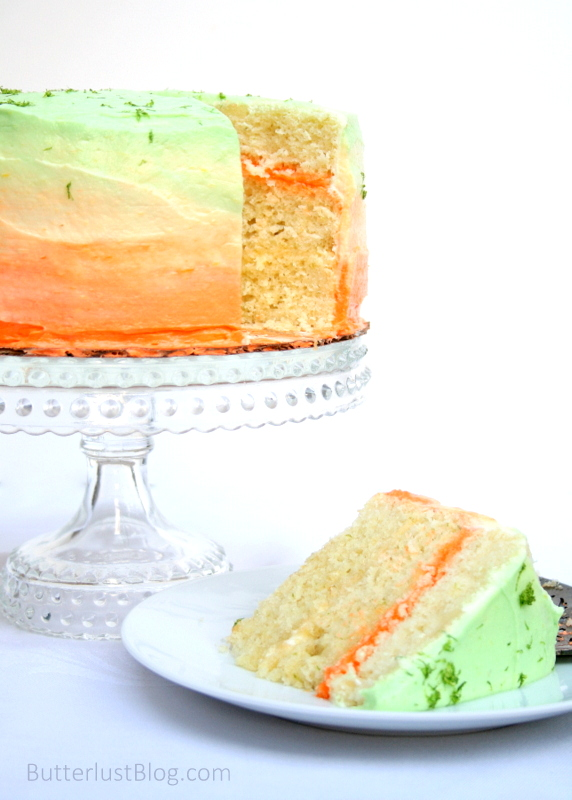 Lime Layer Cake with Mango Buttercream