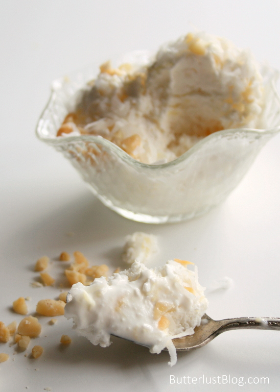 Pina Colada Coconut Milk Ice Cream | Butterlust Blog #DairyFree #Vegan