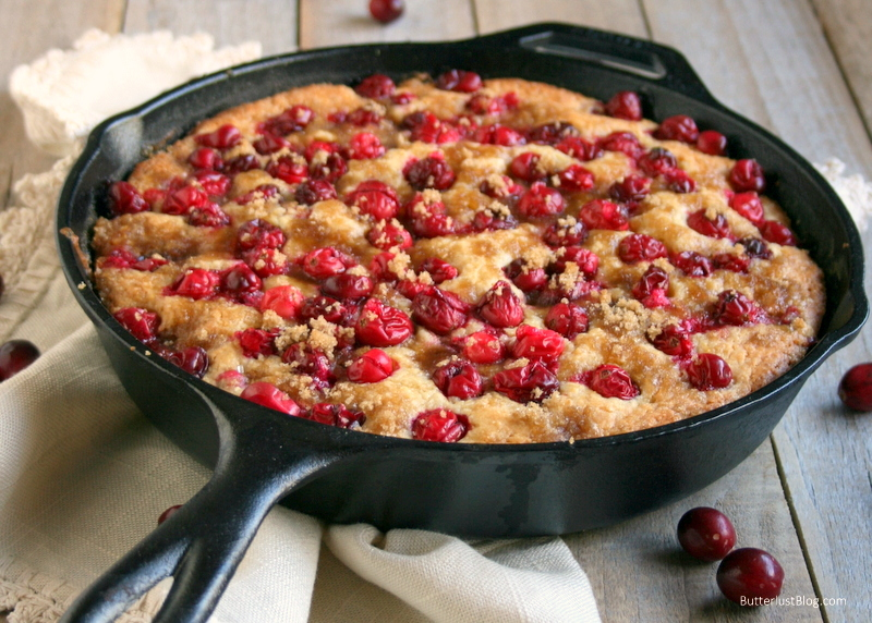 ICranberry Cornmeal Skillet Cake | ButterlustBlog.com