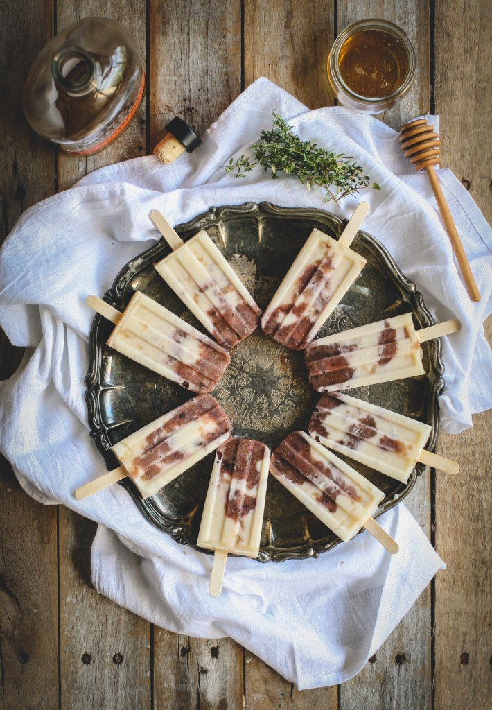 Herbed Fig & Goat Cheese Popsicles // butterlustblog.com
