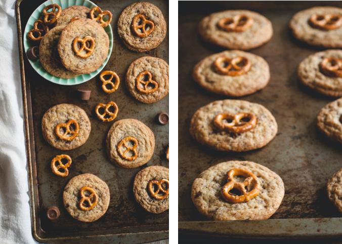 Rolo Pretzel Chocolate Chip Cookies // butterlustblog.com