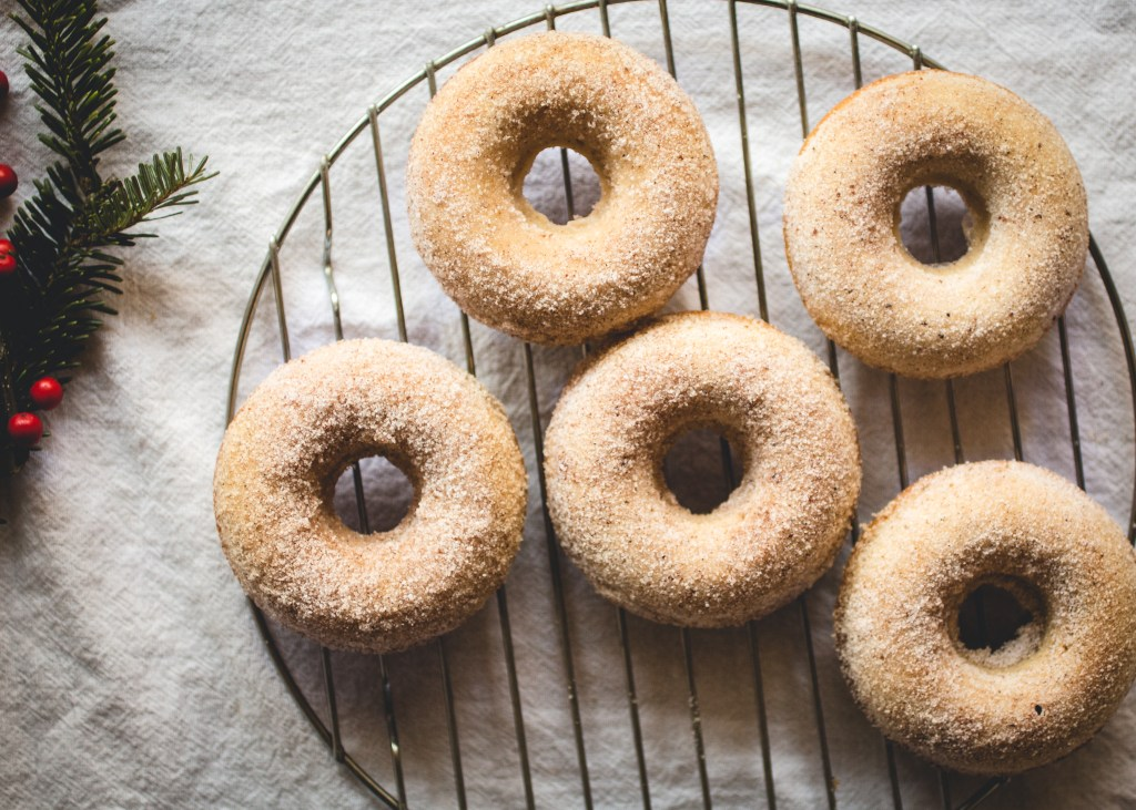 Eggnog Donuts with Bourbon Butter & Spiced Sugar // butterlustblog.com