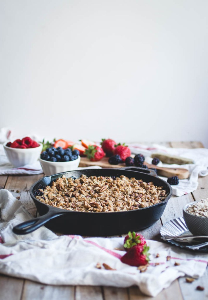 Four Berry Crisp with Oatmeal Cookie Crumble // butterlustblog.com
