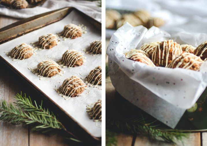 Coconut Gingeroons with White Chocolate Drizzle // butterlustblog.com