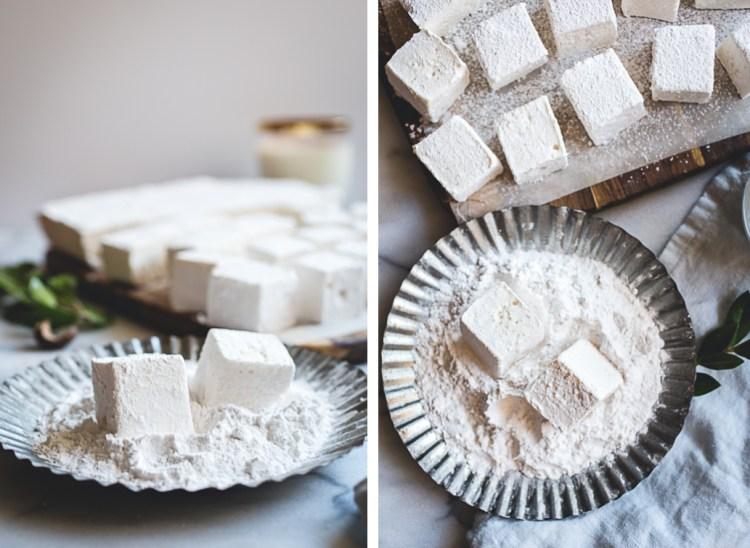 Vanilla-Rum Eggnog Marshmallows // @butterlustblog