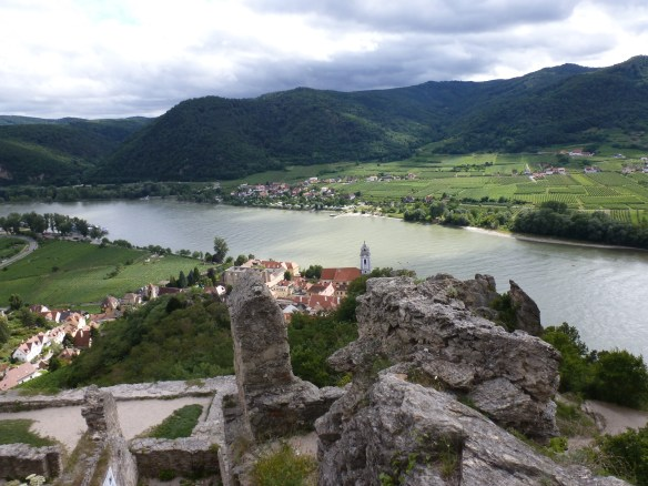 A view of the Donau (Danube) from the ruined castle at Durnstein