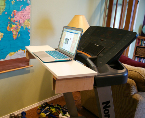 """DIY Treadmill Desk"" image by Flickr user Heather"