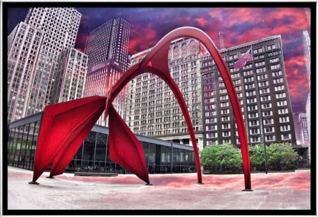 """""""Flamingo Sculpture ~ Alexander Calder ~ 1974"""" via Flickr user Onasill ~ Bill Badzo"""