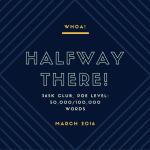 Halfway to 100K: 365K Club, week 13