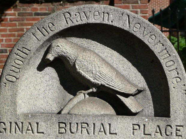 """Edgar Allan Poe Grave Marker"" image by Flickr user Ray Pennisi"