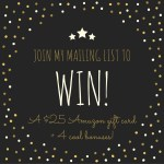 Mailing list madness: Enter to win a $25 Amazon gift card + 4 cool bonuses