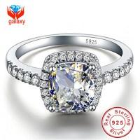 Hot Sale 100% 925 Sterling Silver Big 4 Carat CZ Diamond ...
