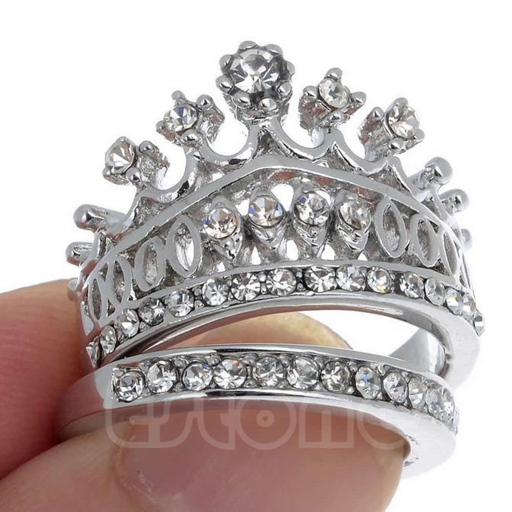stock photo pair christs crown white gold wedding bands image crown wedding rings Pair of Christs Crown White Gold Wedding Bands