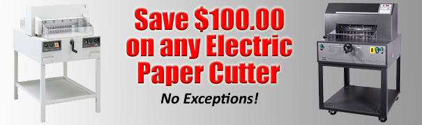 Electric Paper Cutters -- Save $100