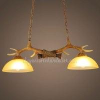 Best 2 Antler Chandelier Two Cast Ceiling Lights Antique ...