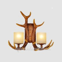 Whitetail 2 Antler Wall Sconces Corridor Lamps Rustic ...