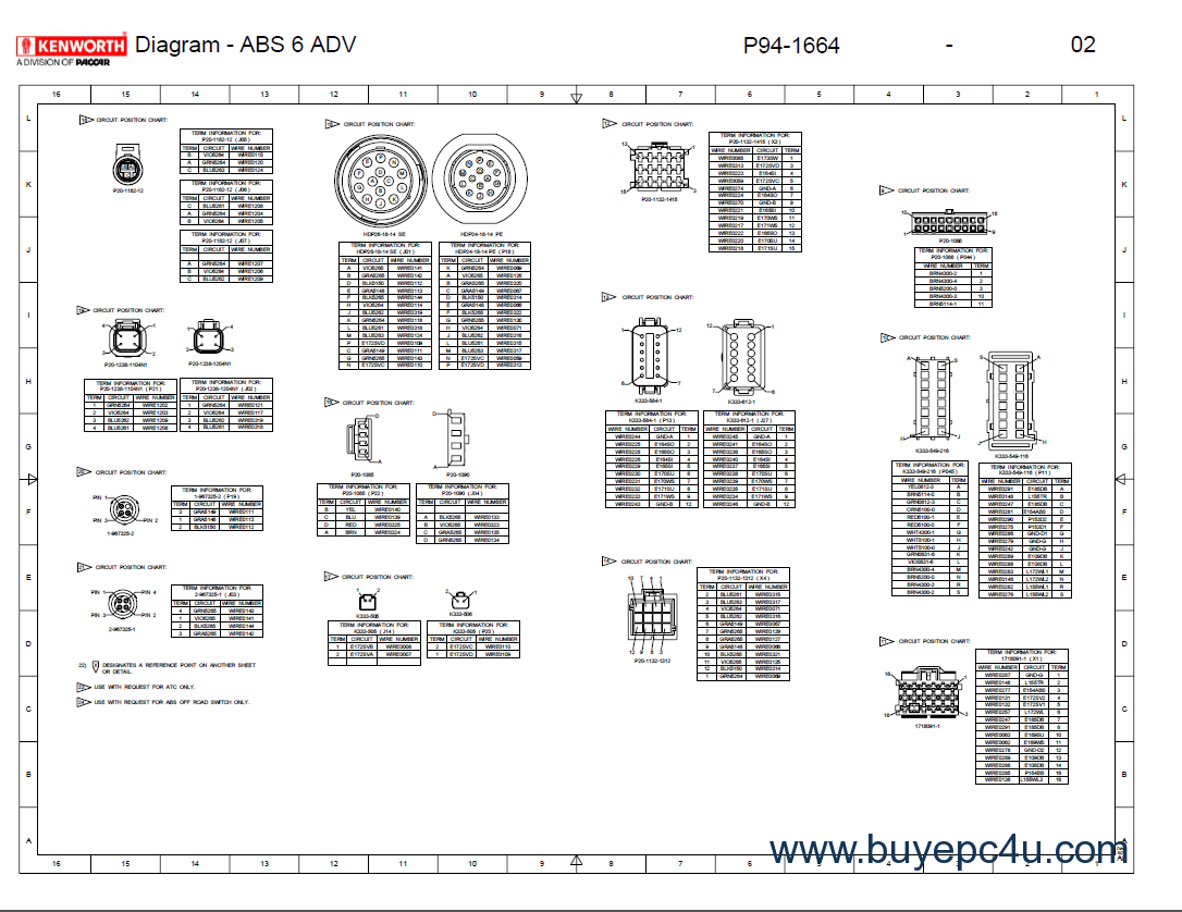 [WRG-9367] Kenworth T2000 Wiring Diagrams
