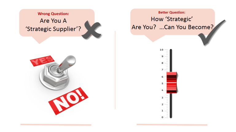 Are you a strategic supplier?