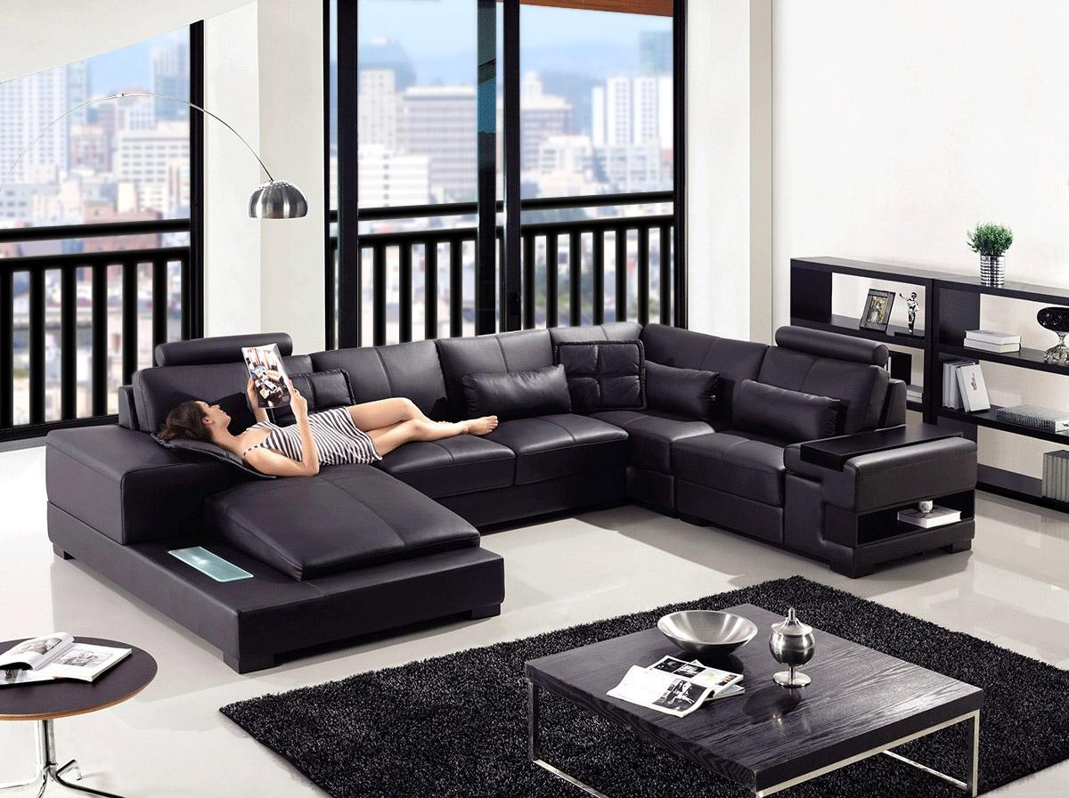 Divani Casa Diamond Modern Leather Sectional Sofa Buy Furniture In La