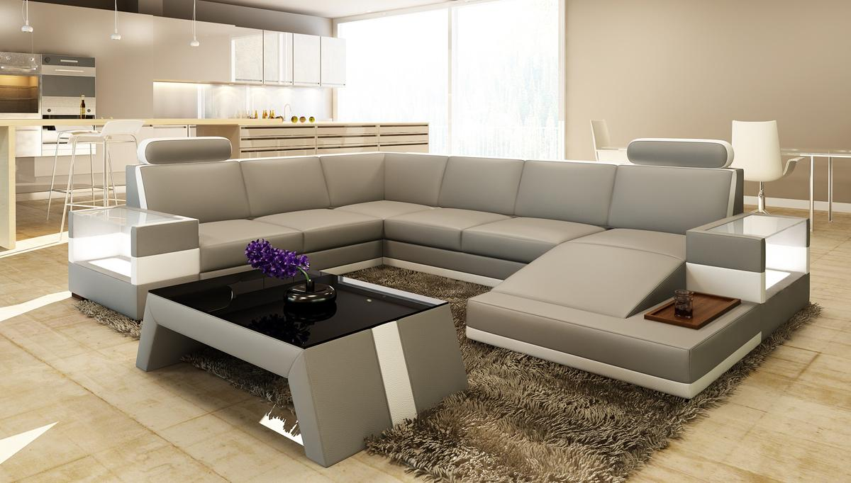 Divani Casa 5100 Modern Bonded Leather Sectional Sofa Buy Furniture In La